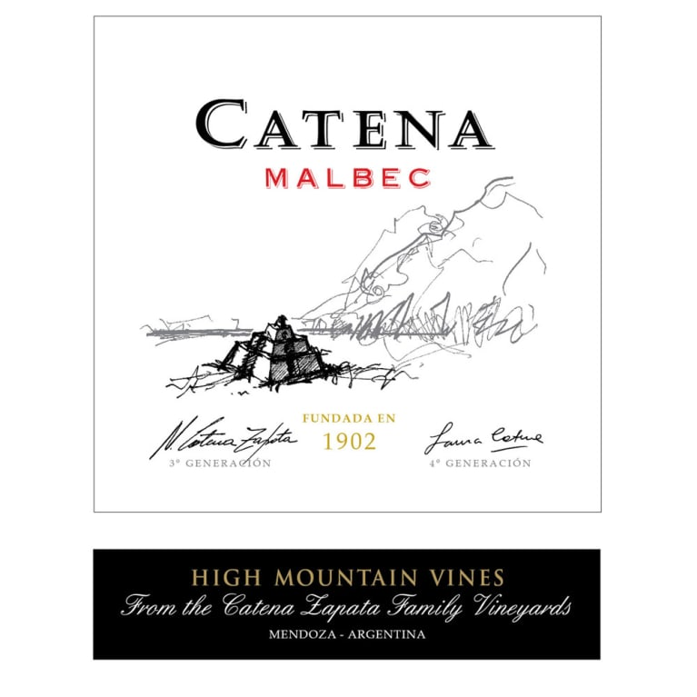 Catena Malbec (375ML half-bottle) 2015 Front Label