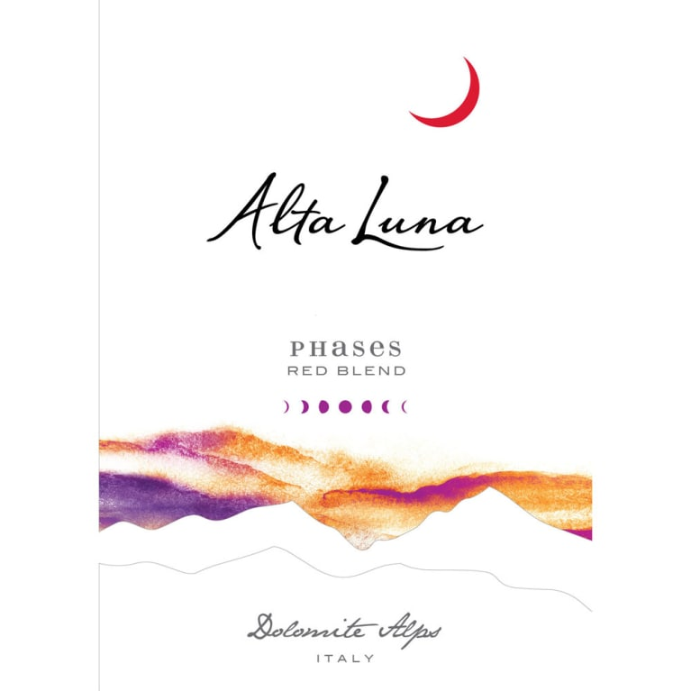 Alta Luna Phases Red Blend 2014 Front Label