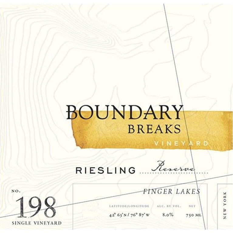 Boundary Breaks No.198 Reserve Riesling 2016 Front Label