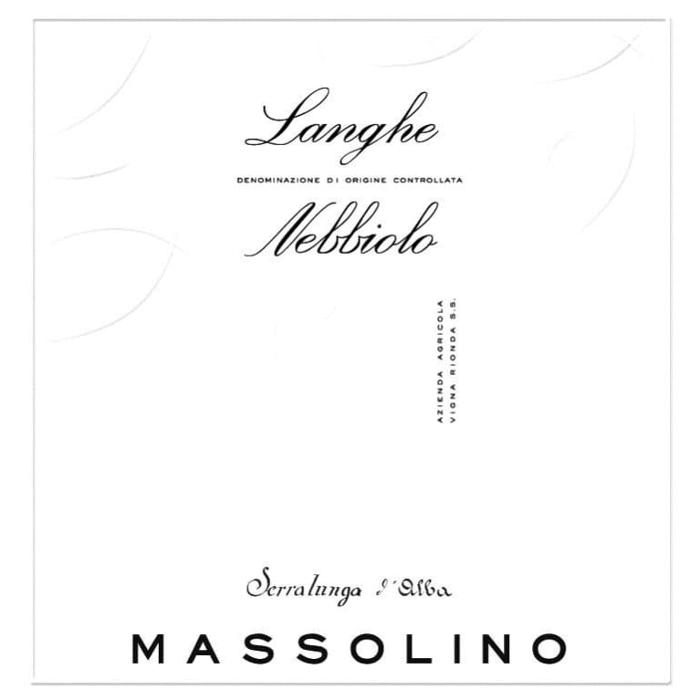 Massolino Langhe Nebbiolo 2015 Front Label