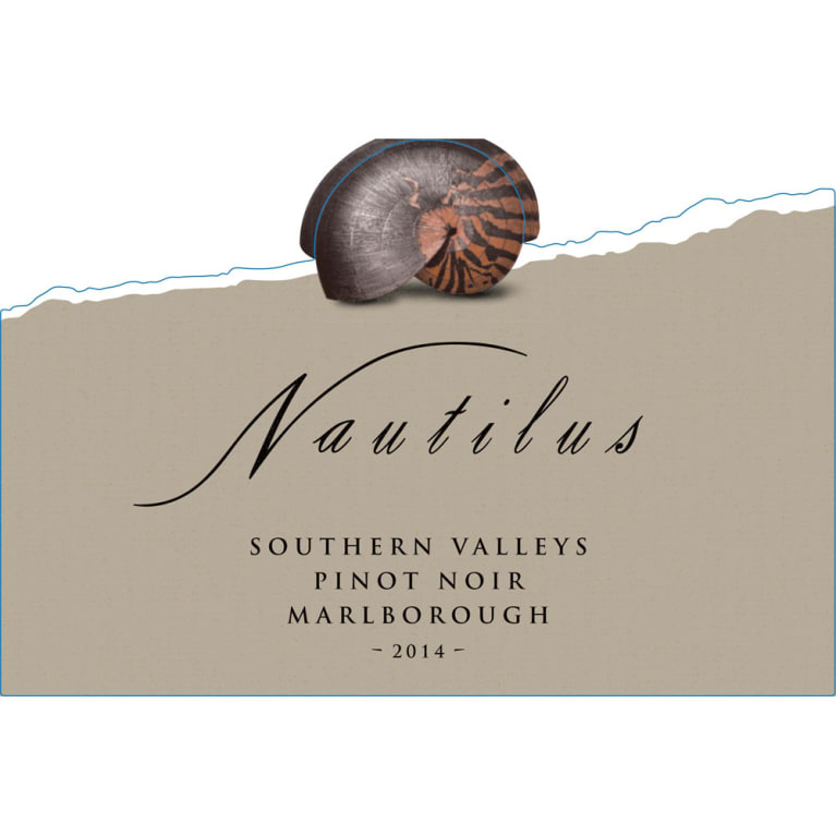 Nautilus Southern Valleys Pinot Noir 2014 Front Label