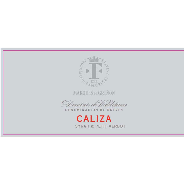 Marques de Grinon Caliza Red Blend 2012 Front Label