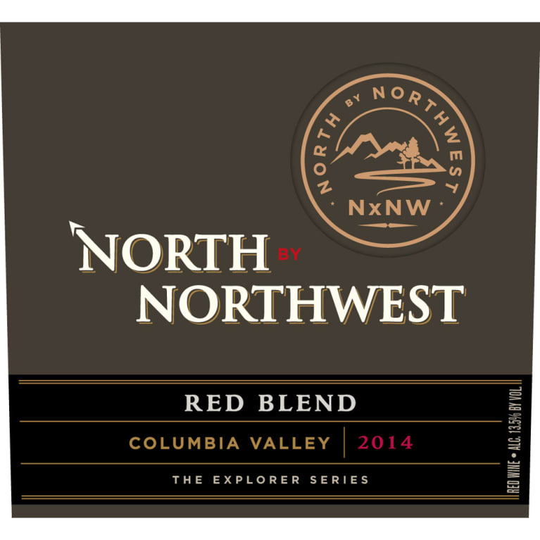 North by Northwest NxNW Red Blend 2014 Front Label