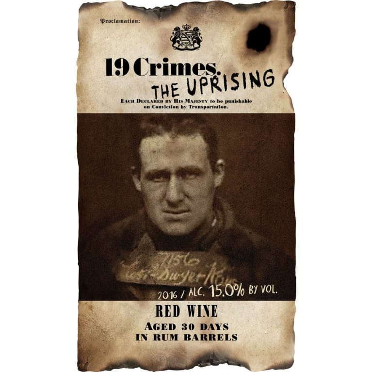 19 Crimes The Uprising 2016 Front Label