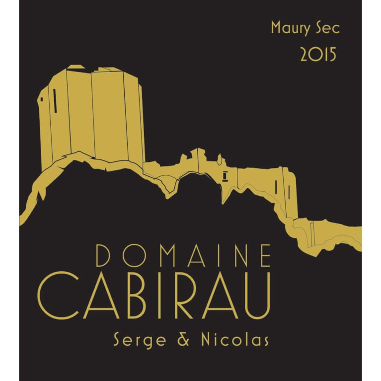 Domaine Cabirau Maury Sec Serge and Nicolas 2015 Front Label