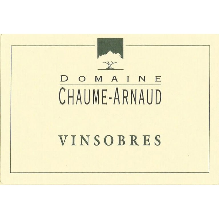 Domaine Chaume-Arnaud Vinsobres 2014 Front Label