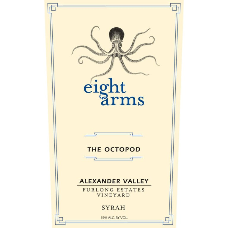 Eight Arms The Octopod Syrah 2013 Front Label