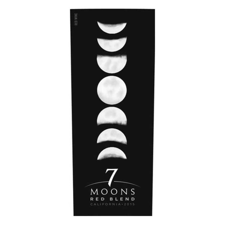 7 Moons Red Blend 2015 Front Label