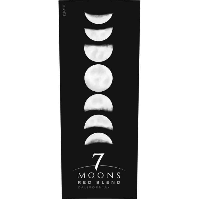 7 Moons Red Blend 2016 Front Label