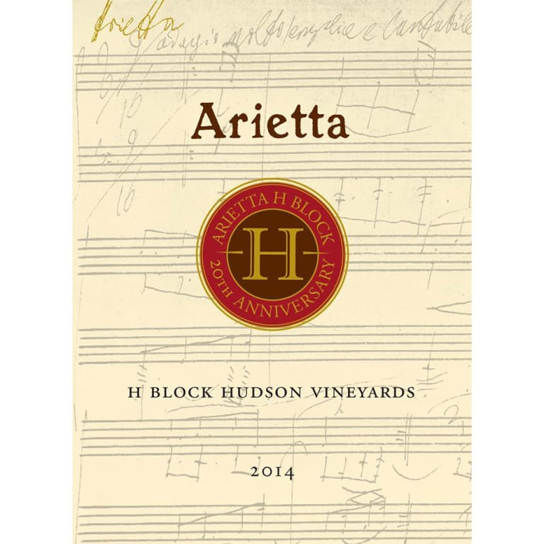 Arietta H Block Hudson Vineyards Red Blend 2014 Front Label