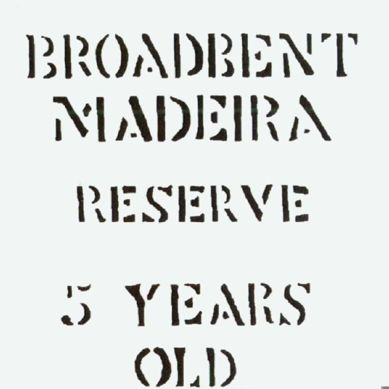 Broadbent 5 Year Madeira Reserve Front Label