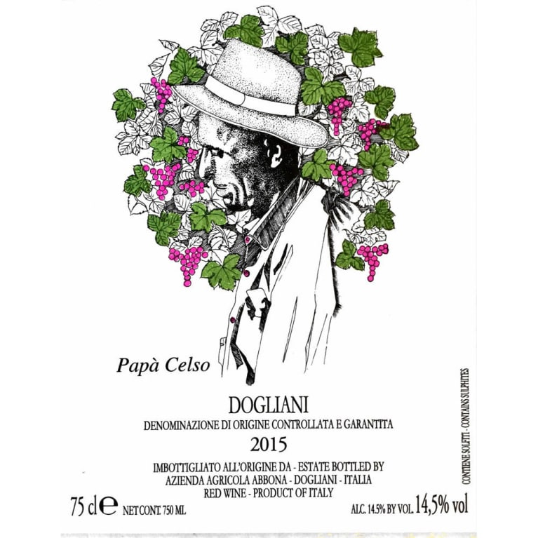 Abbona Papa Celso Dolcetto 2015 Front Label