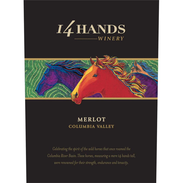 14 Hands Merlot 2015 Front Label