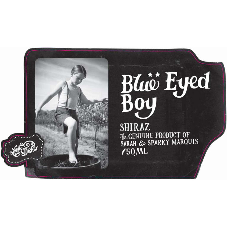 Mollydooker Blue Eyed Boy Shiraz 2016 Front Label