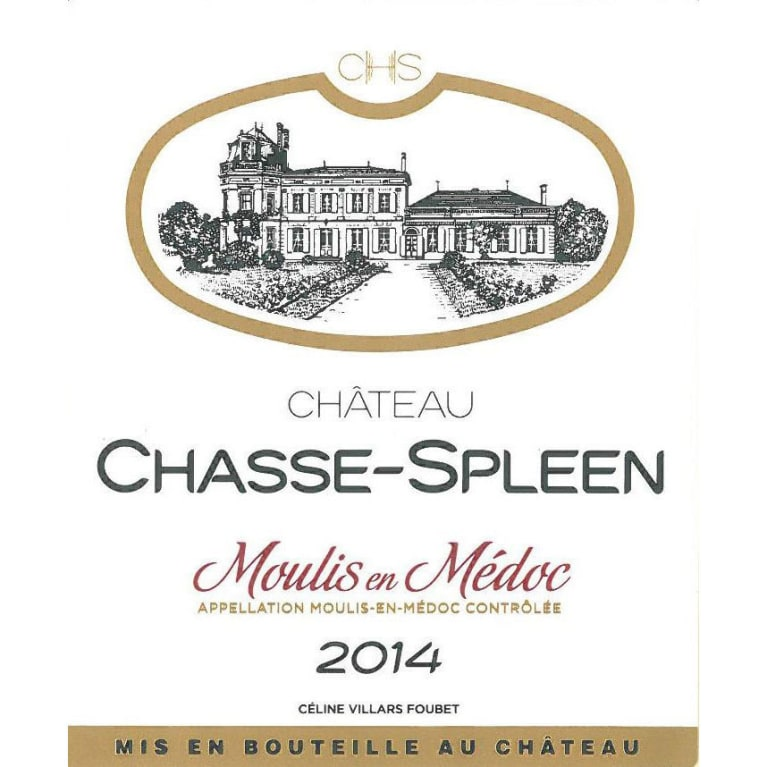 Chateau Chasse Spleen  2014 Front Label