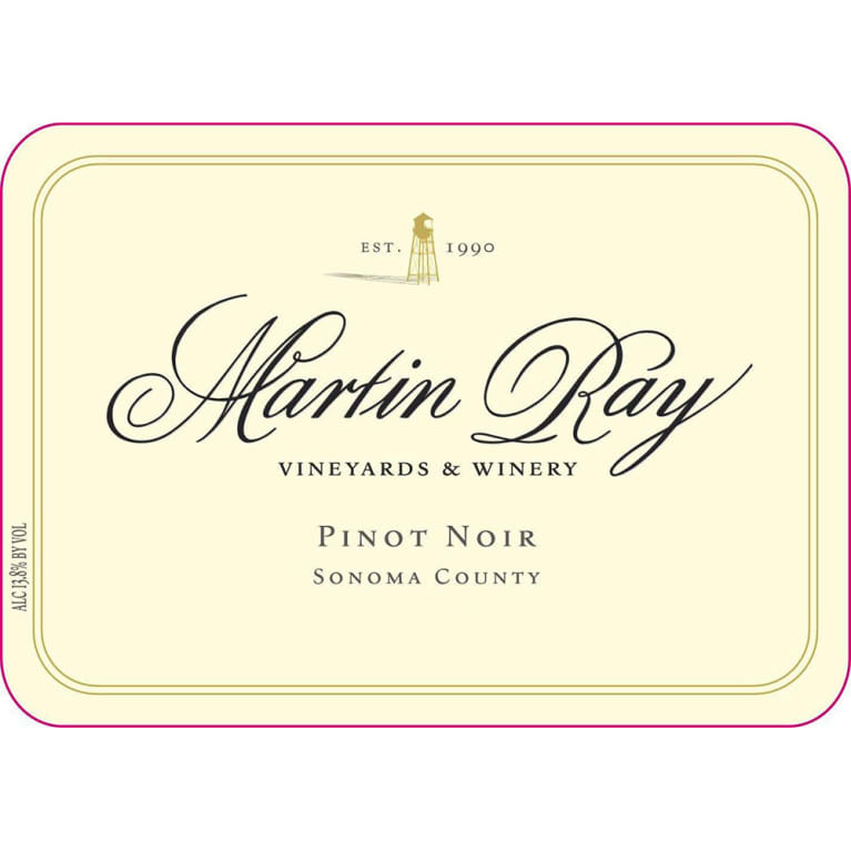 Martin Ray Sonoma County Pinot Noir 2016 Front Label