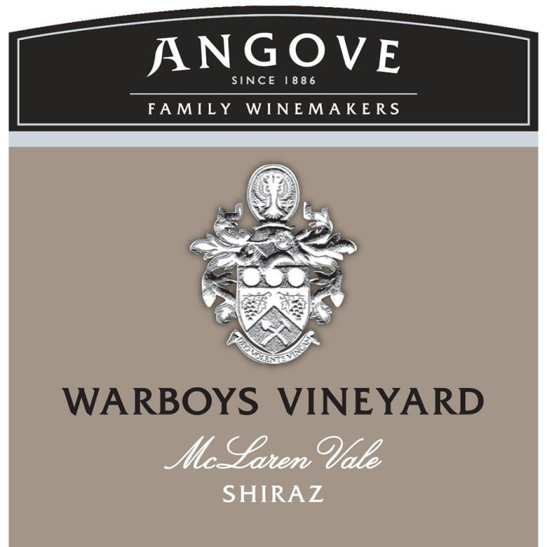 Angove Family Winemakers Warboys Vineyard Shiraz 2014 Front Label