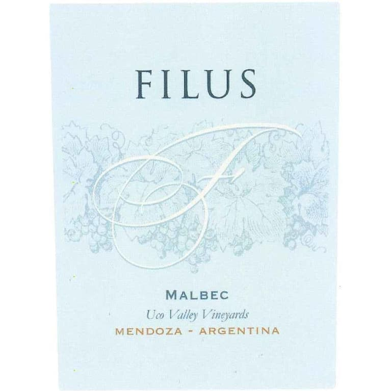 Filus Malbec 2016 Front Label