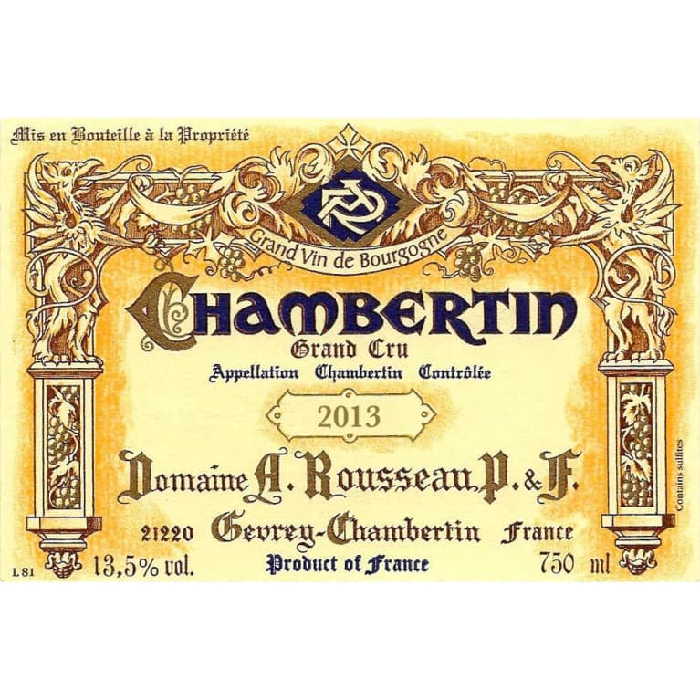 Domaine Armand Rousseau Chambertin Grand Cru 2013 Front Label