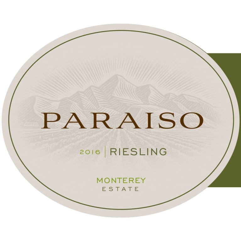 Paraiso Vineyards Riesling 2016 Front Label