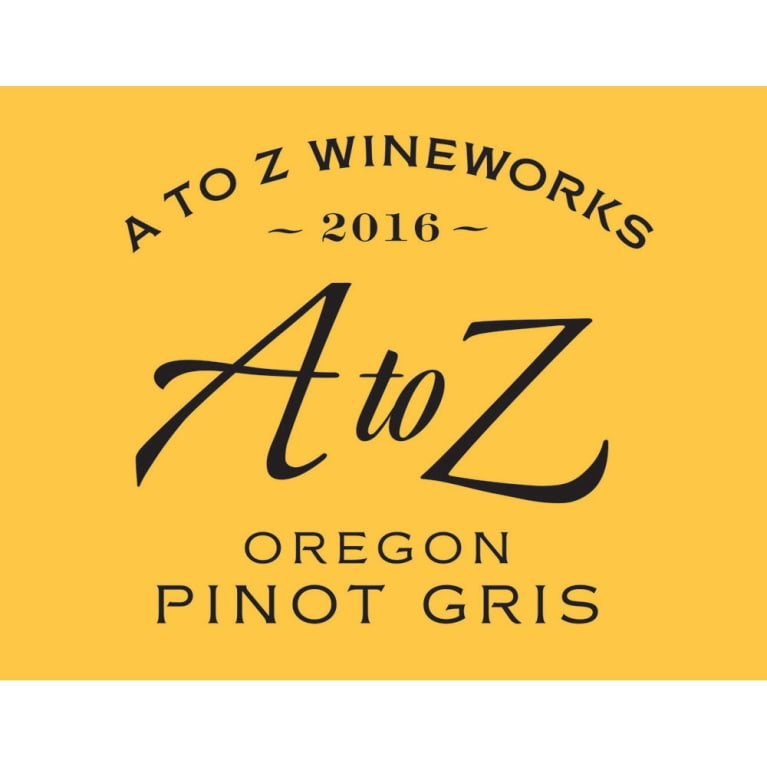 A to Z Pinot Gris 2016 Front Label
