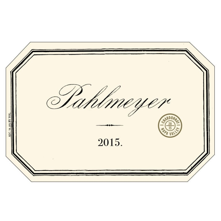 Pahlmeyer Napa Valley Chardonnay 2015 Front Label