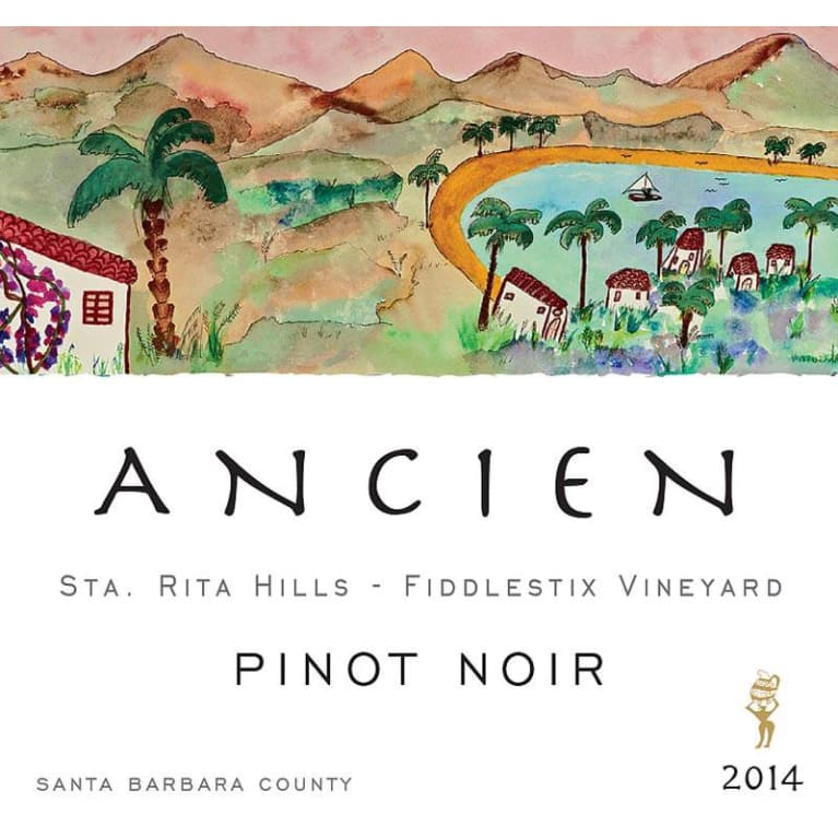 Ancien Wines Fiddlestix Vineyard Pinot Noir 2014 Front Label