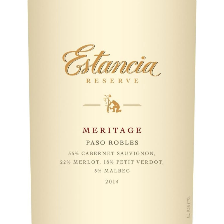 Estancia Reserve Meritage Red 2014 Front Label