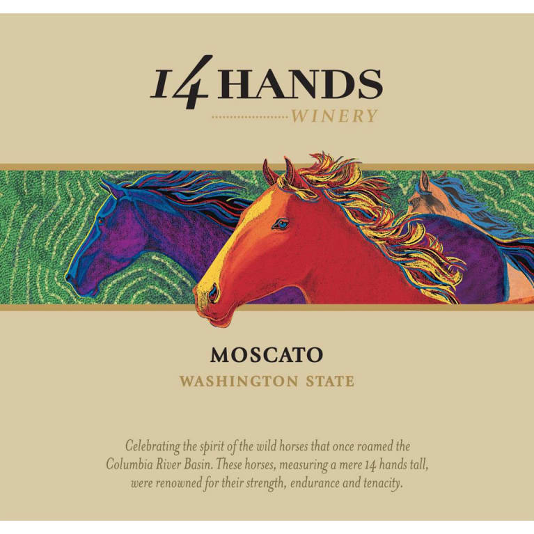 14 Hands Moscato 2015 Front Label