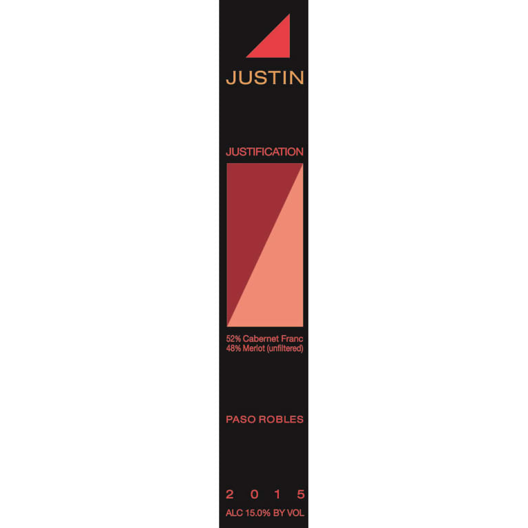 Justin Justification 2015 Front Label