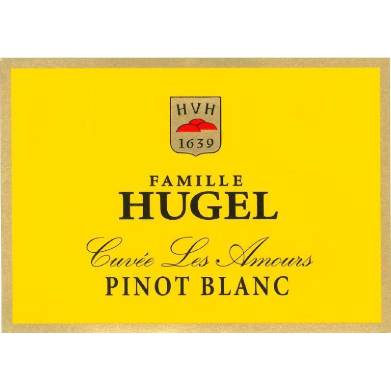 Hugel Pinot Blanc Cuvee Les Amours 2015 Front Label