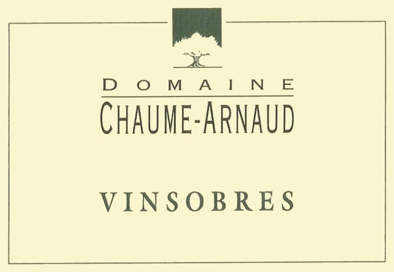 Domaine Chaume-Arnaud Vinsobres 2012 Front Label