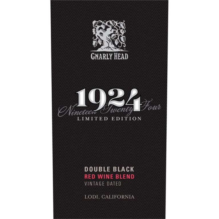 1924 Double Black Red Blend 2016 Front Label