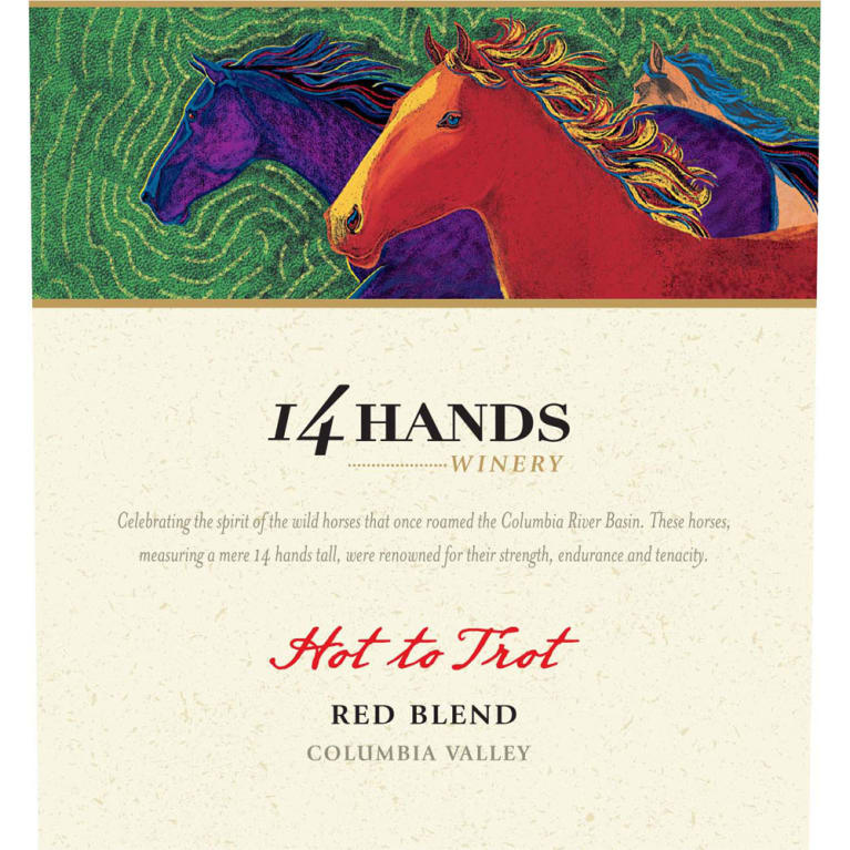 14 Hands Hot to Trot Red Blend 2015 Front Label