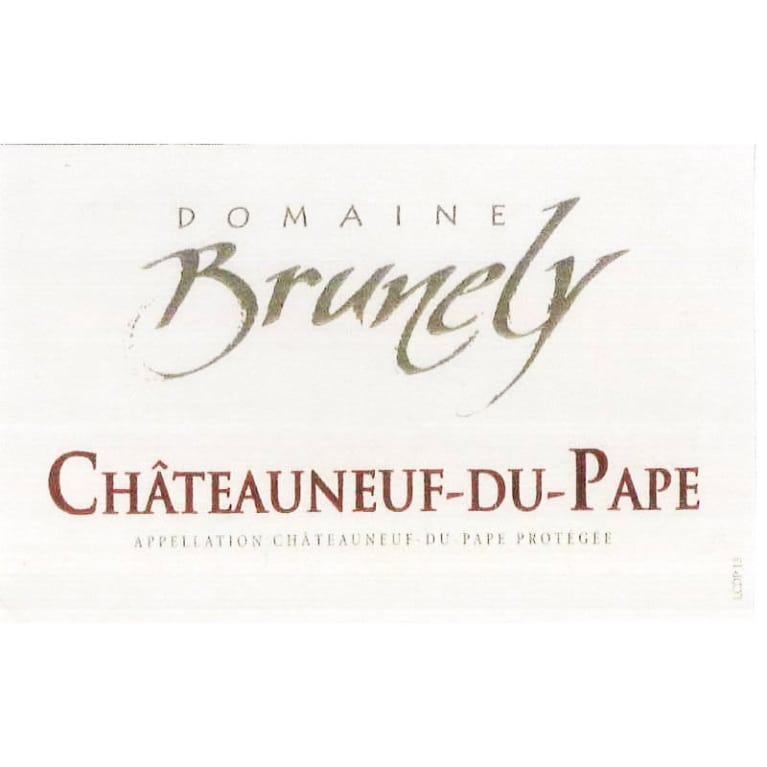 Domaine Brunely Chateauneuf-du-Pape 2015 Front Label
