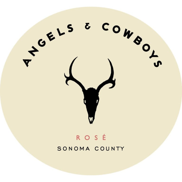 Angels & Cowboys Rose 2017 Front Label