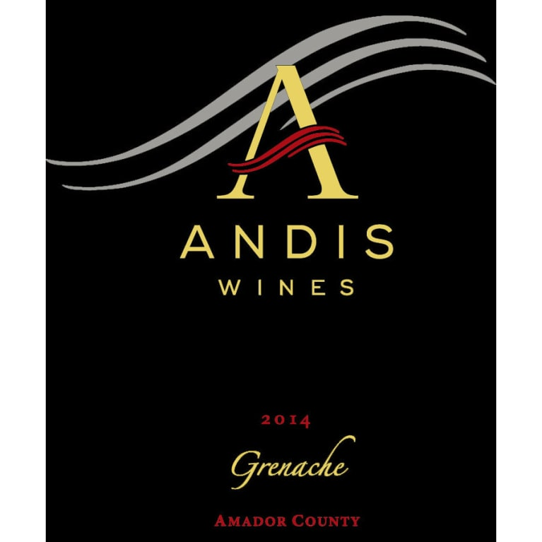 Andis Grenache 2014 Front Label