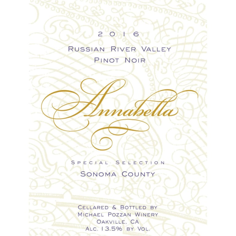 Annabella Russian River Pinot Noir 2016 Front Label
