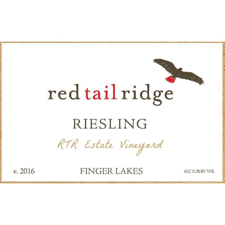 Red Tail Ridge Estate Riesling 2016 Front Label