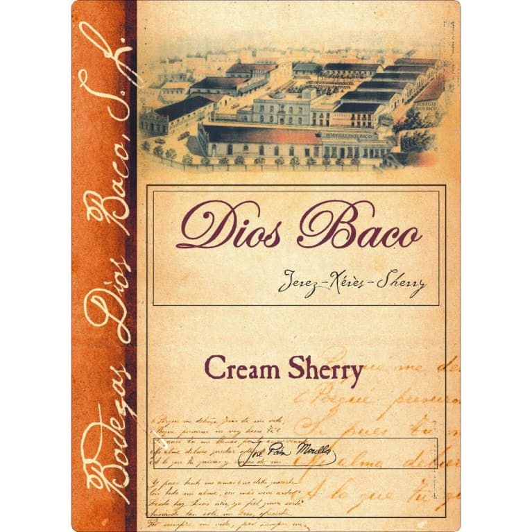 Bodegas Dios Baco Cream Sherry Front Label