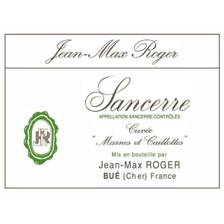Jean Max Roger Sancerre Marnes and Caillottes 2016 Front Label