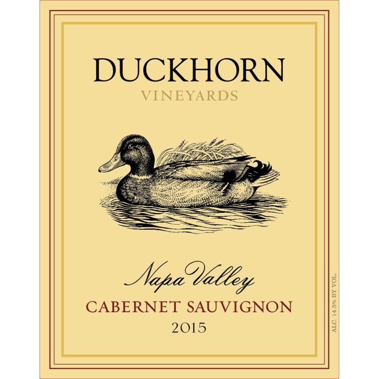 Duckhorn Napa Valley Cabernet Sauvignon (375ML half-bottle) 2015 Front Label