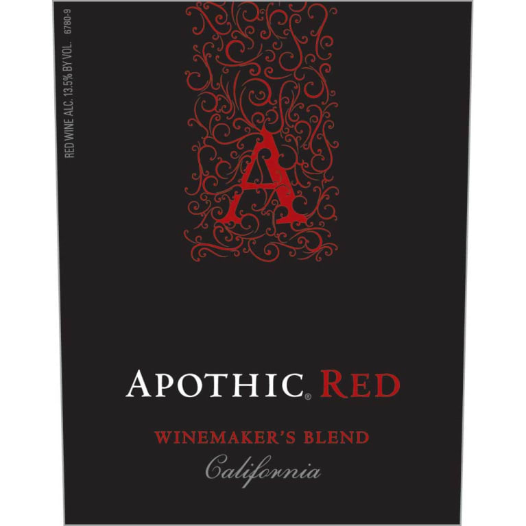 Apothic Red Blend 2016 Front Label