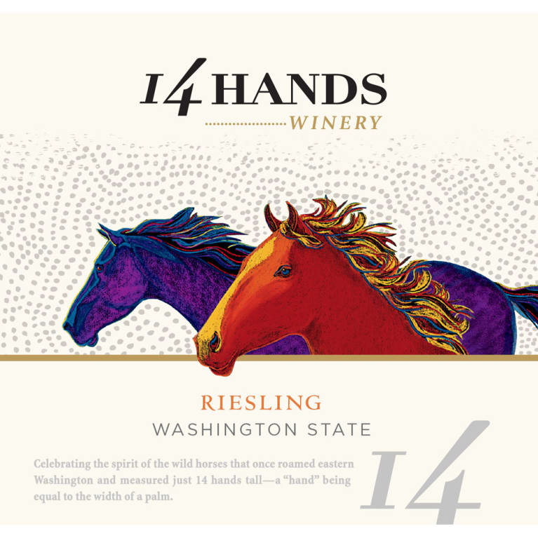 14 Hands Riesling 2016 Front Label