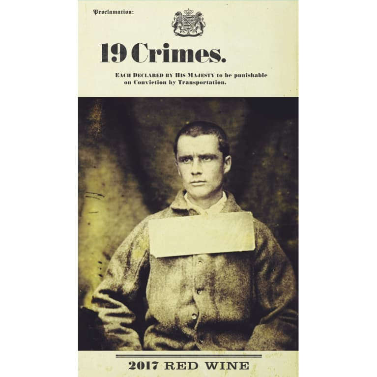 19 Crimes Red Blend 2017 Front Label