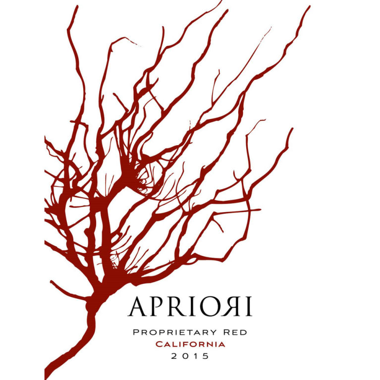 Apriori Cellar Proprietary Red 2015 Front Label
