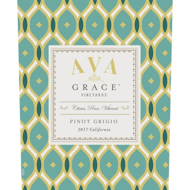 AVA Grace Pinot Grigio 2017 Front Label