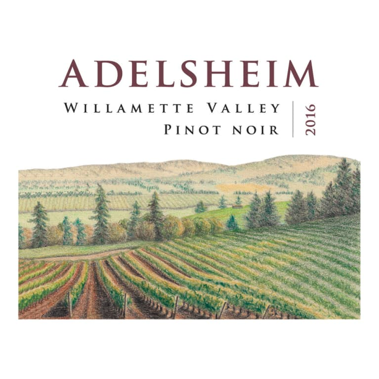 Adelsheim Pinot Noir (375ML half-bottle) 2016 Front Label