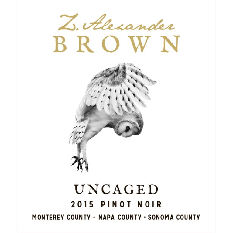 Z. Alexander Brown Uncaged Pinot Noir 2015 Front Label