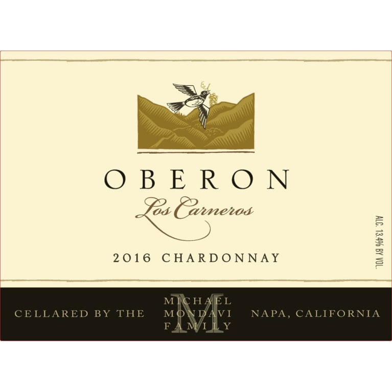 Oberon Chardonnay 2016 Front Label